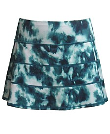 Plus Size Tie-Dyed Tiered Skort, Created for Macy's