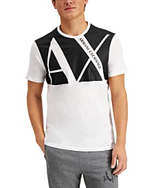 Men's Big AX Colorblock Logo T-Shirt, Created for Macy's