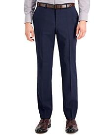 Men's Classic-Fit Navy/Burgundy/Plaid Pants