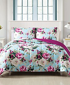 Ambrosia 3-Pc. Reversible Full/Queen Comforter Set