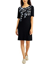 Floral-Print Boat-Neck Dress, Created for Macy's