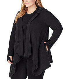 Cuddl Duds Plus Size Hooded Fleece Wrap