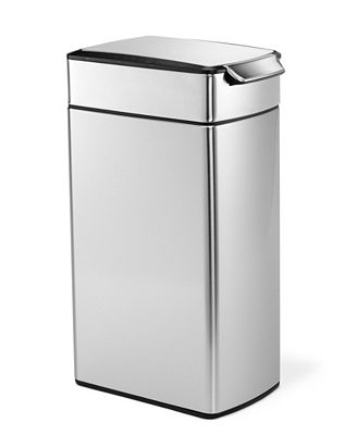 simplehuman brushed stainless steel 40 liter fingerprint proof