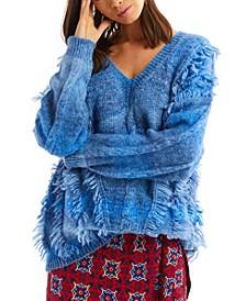 Women's Tie Dye Fringe Sweater