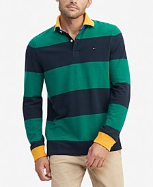 Men's Talmadge Custom-Fit Colorblocked Stripe Polo Shirt