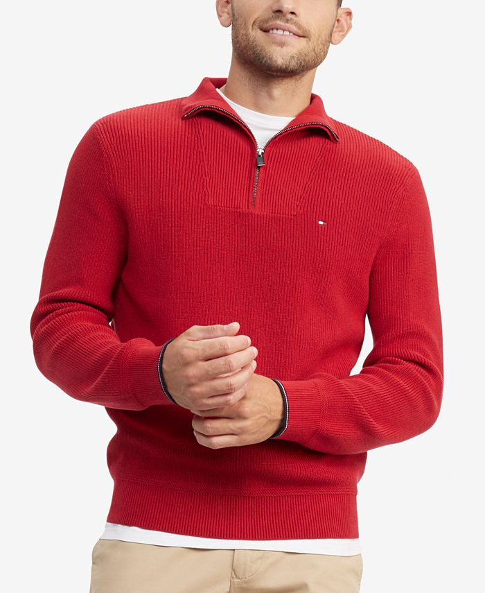 Tommy Hilfiger - Men's Peterson Classic-Fit 1/4-Zip Sweater