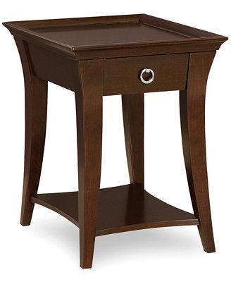 Macys Storage Bed Abington End Table - Furniture - Macy's