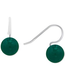 Aventurine Large Bead Drop Earring in Sterling Silver (Also available in Sodalite & Onyx), Created for Macy's