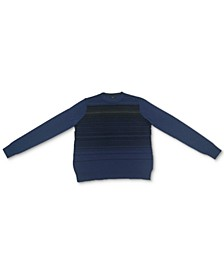 Men's Merino Blend Stripe Crewneck Sweater, Created for Macy's