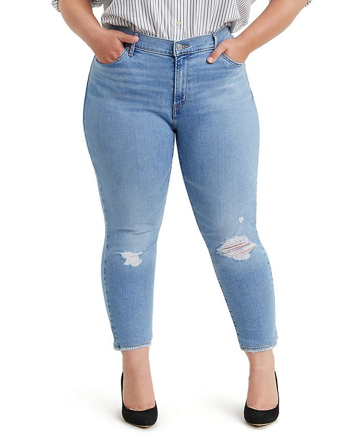 Levi's - Trendy Plus Size 711 Ripped Skinny Jeans
