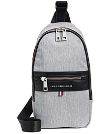 Men's Leo Heathered Sling Backpack, Created for Macy's