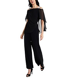 Side-Draped Cold-Shoulder Jumpsuit
