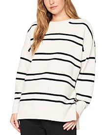 Everyday Striped Tunic Sweater