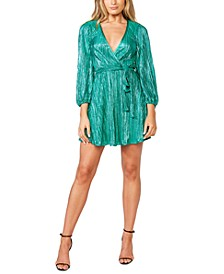 Bellissa Pleat Faux-Wrap Dress