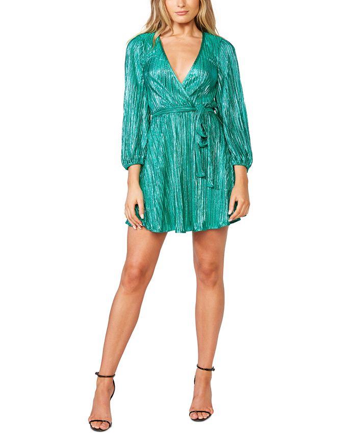 Bardot - Bellissa Pleat Faux-Wrap Dress