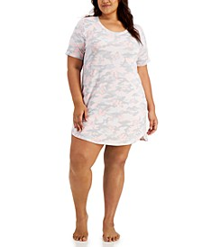 Plus Size Short Sleep Shirt Nightgown, Created for Macy's