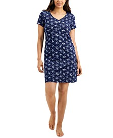 Short-Sleeve Cotton Nightgown, Created for Macy's