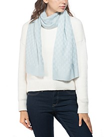 Cashmere Check-Knit Muffler Scarf, Created for Macy's