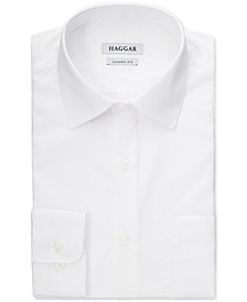 Men's Wrinkle-Free Solid White Dress Shirt
