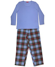 Matching Women's Mix It Tartan Family Pajama Set, Created for Macy's