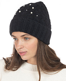 INC Embellished Beanie, Created for Macy's