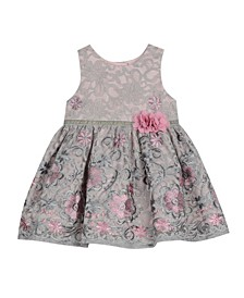 Baby Girls Embroidered Lace Dress