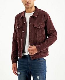 Men's Plum Corduroy Jacket