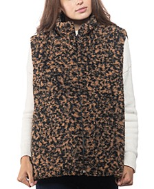 INC Animal-Print Faux-Fur Vest, Created for Macy's