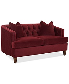 """Austian 69"""" Fabric Loveseat, Created for Macy's"""