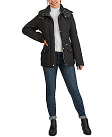 Cole Haan Quilted Hooded Coat