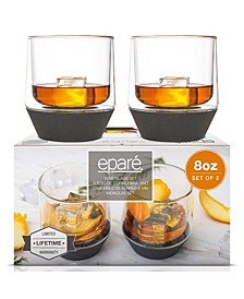 8-Oz. Whiskey Glasses, Set of 2