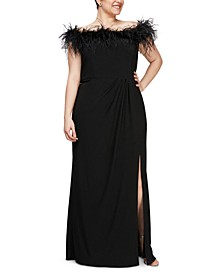 Plus Size Off the Shoulder Gown