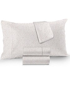 Sleep Luxe Cotton 800-Thread Count 4-Pc. Printed Queen Sheet Set, Created for Macy's