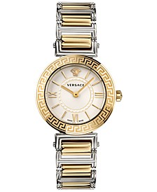Women's Swiss Tribute Two-Tone Stainless Steel Bracelet Watch 35mm