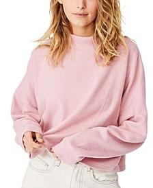 Women's Brina Brushed Rib Mock Neck Sweater