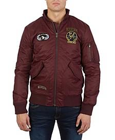 Men's Flight Jacket with Detachable Hood