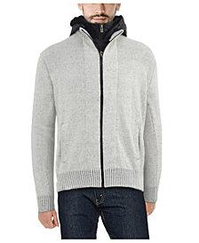 X-Ray  Men's Full-Zip Sweater Jacket with Fluffy Fleece Lined Hood