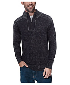 X-Ray  Men's Quarter-Zip Pullover Sweater