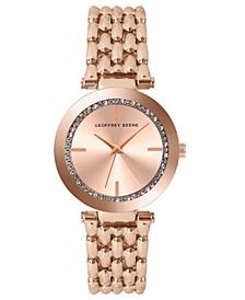 Women's Rose Gold Metal Alloy Bracelet Watch, 32 mm