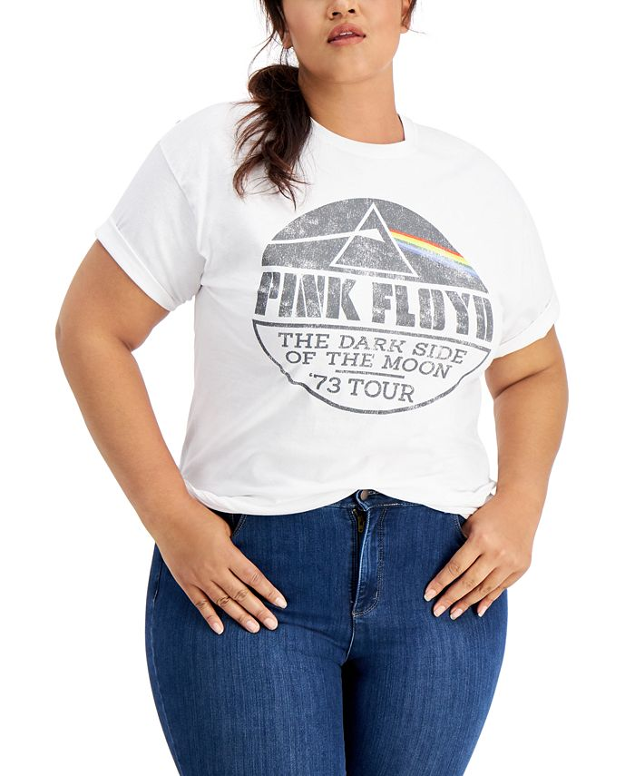 Love Tribe - Trendy Plus Size Cotton Pink Floyd Graphic T-Shirt