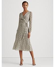 Wrap-Style Georgette Dress