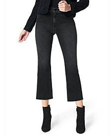 Callie Cropped Raw-Hem Jeans