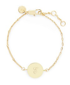 14K Gold Plated Paige Initial Bracelet