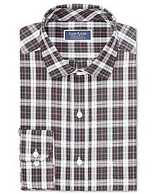 Men's Classic/Regular-Fit Performance Stretch Tartan Dress Shirt, Created for Macy's