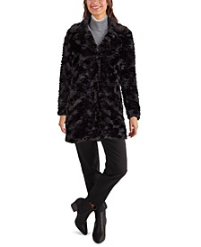 Notch-Collar Faux-Fur Coat