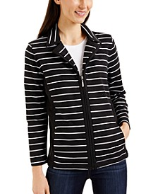 Petite Striped Jacket, Created for Macy's