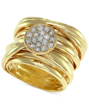 D'Oro by Effy Diamond Pave-Set Wrap Ring (1/3 ct. t.w.) in 14k Gold -  Effy Collection