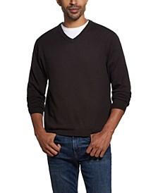 Cotton Cashmere V-Neck Sweater