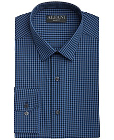Men's Slim-Fit Gingham Check Dress Shirt, Created for Macy's