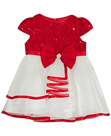 Baby Girls Lace To Mesh Dress